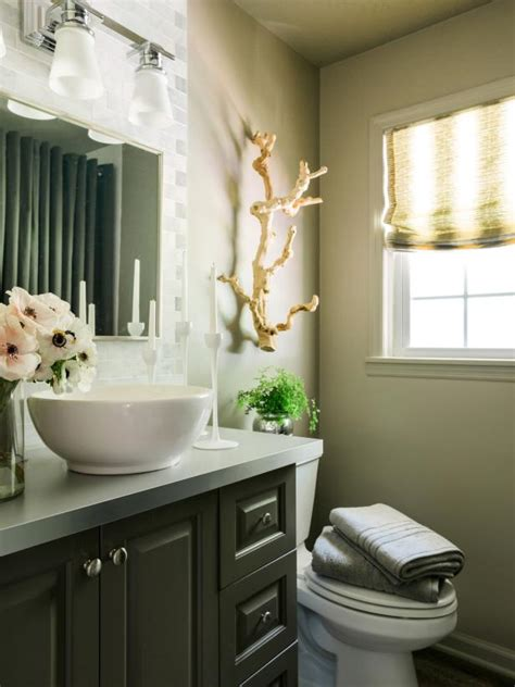 freshen   powder room  holiday guests hgtv