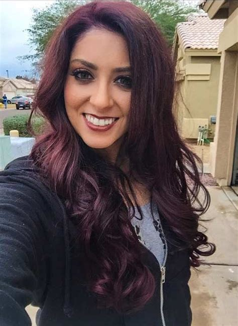 brown maroon hair color hair colar  cut style