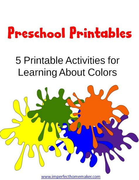free preschool learning colors printables free 167 | Preschool Printables learning colors 791x1024