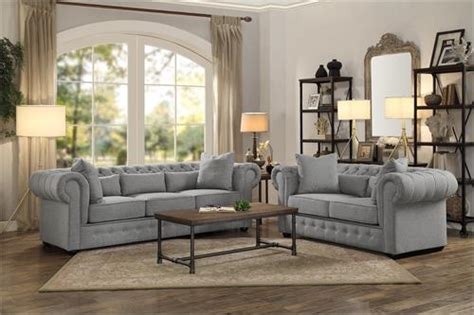 Loveseat And Chair Set by 8427gy Homelegance Savonburg Grey Sofa Set Collection