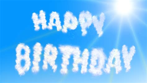 happy birthday clouds wallpapers hd wallpapers id
