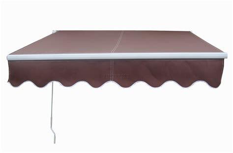 patio manual retractable awning canopy sun shade shelter coffee    garden ebay