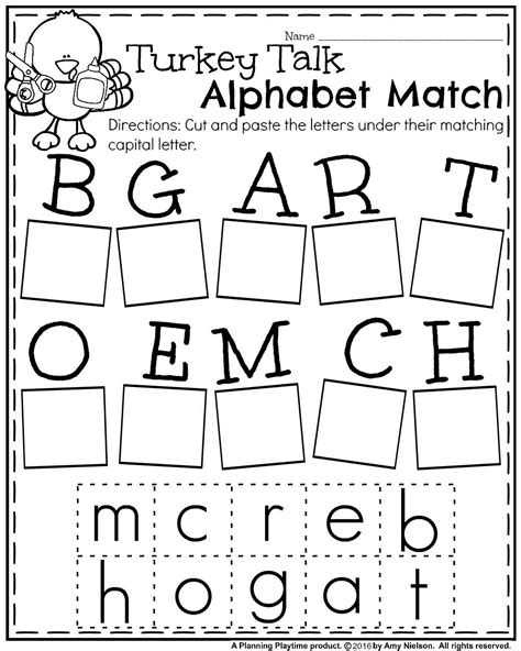 fall kindergarten worksheets for november teachers pay