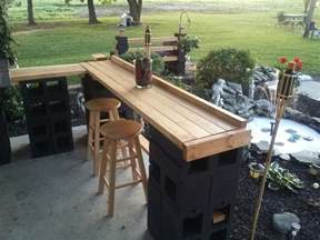 Outside Bar Furniture by Cinder Block Patio Bar Janice Lininger Outdoor Patio