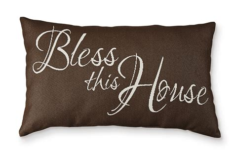 bless this house word pillow home home decor pillows