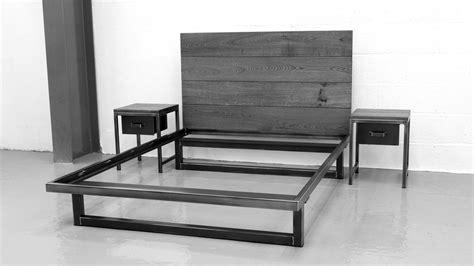 industrial style furniture the blacksmith bed industrial bedroom furniture steel Vintage