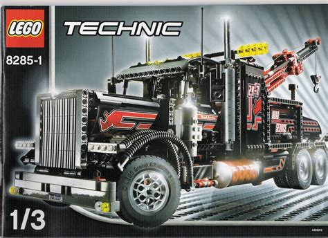 technic truck tow truck instructions 8285 technic