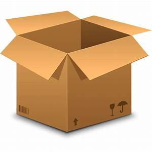 Realistic Cardboard Box Icon  Psd