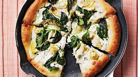 artichoke  spinach skillet pizza