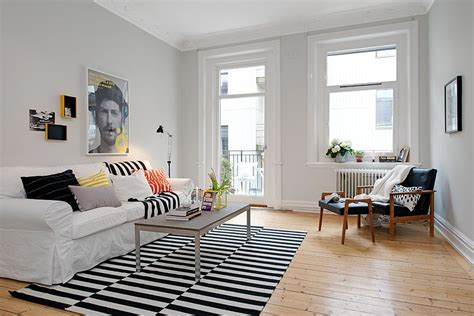 Ikea's Stockholm Rand Rug And Ektorp Sofa In A Bright