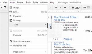 Create an eye catching resume in google docs for Google docs continuous page