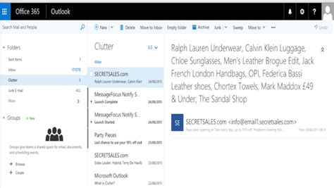 Office 365 Outlook Inbox by How To Turn Clutter In Outlook And Office 365 Cloud Pro