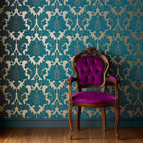 create  french inspired room  vintage wallpaper