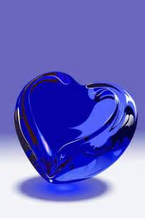 Cobalt Blue Glass Heart