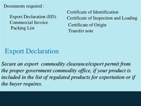 customs clearance procedure  import  export