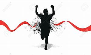 Images of clipart runner by a finish line
