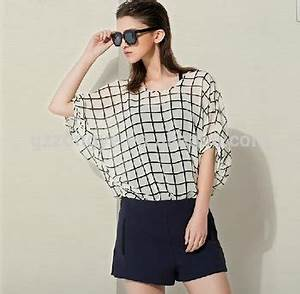 Chic Check Summer Tops Latest Design Girl Top With Batwing ...