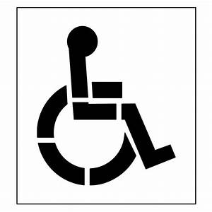 stencil ease 39 in one part handicap stencil with 4 in With disabled parking template