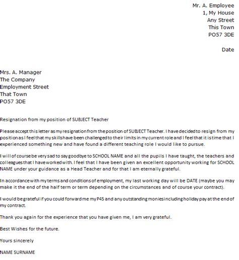 resignation letter template uk business letter template