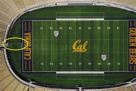 cal football field features  hayward earthquake