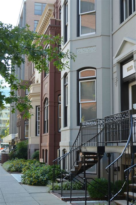 dc architecture row brick houses painted circle historic dupont neighborhoods washington logan visit