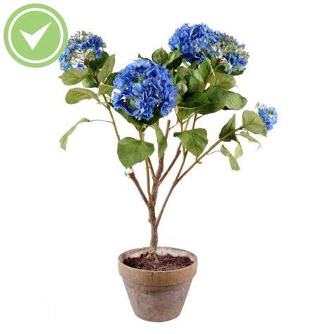 hortensia pot terre plante artificielle en pot maison et fleurs