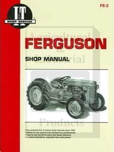 massey ferguson te20 to20 to30 shop repair manual fe 2
