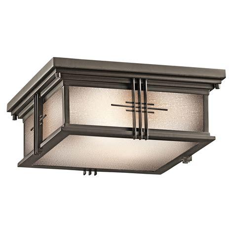 outdoor flush mount ceiling light fixtures kichler 49164oz portman square outdoor flush mount ceiling