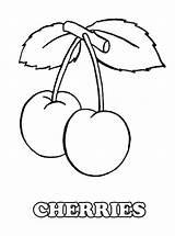 Coloring Fruit Cherries Fruits Pages Pair Vegetables Tasty Cherry Kidsplaycolor Vegetable Veg 09kb 808px sketch template