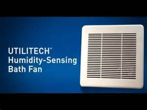 utilitech humidity sensing bath fan youtube