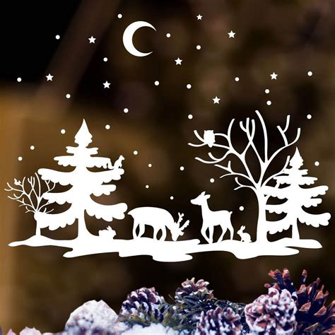Weihnachtsdeko Fenstersticker by Window Picture Reindeer White Sticker
