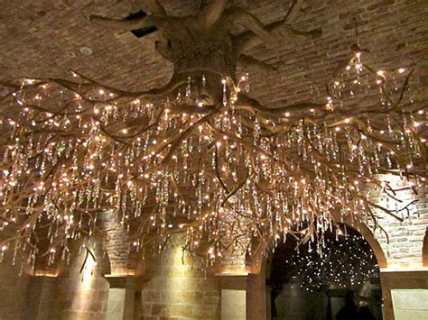 tree root chandelier barnorama