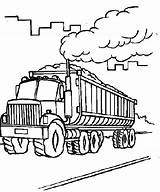 Coal Coloring Pages Transporter Factory Truck Cement Outline Carrying Printable Getcolorings Place Getdrawings sketch template