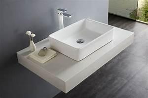 lavabo vasque a poser bernstein la boutique salle de With salle de bain design avec lavabo rectangulaire à poser