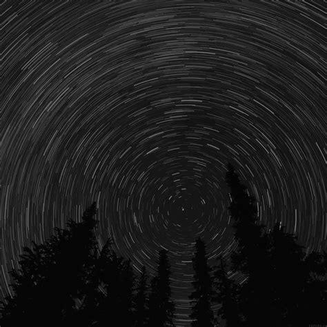 mj star trail green tree space night dark nature wallpaper