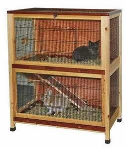 Kaninchenkäfig Für 2 Kaninchen : indoor kaninchenk fig aus holz 2 etagen 100x54x118cm nagerk fig f r drinnen wohnung kaninchen ~ Frokenaadalensverden.com Haus und Dekorationen