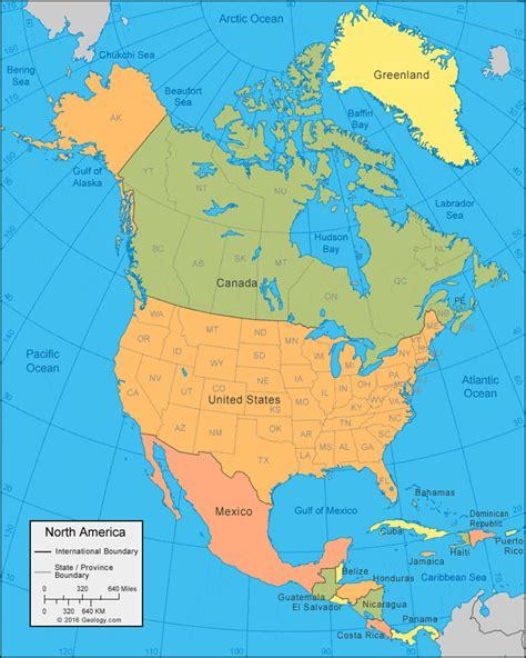 north america map  satellite image