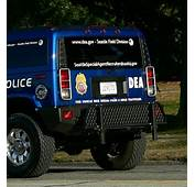 Rear Of DEA Vehicle  Hummer States That