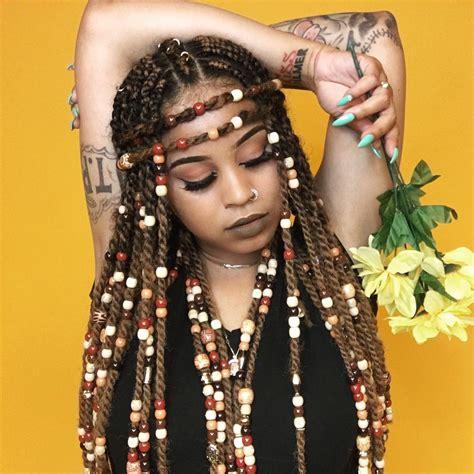 braids  beads hairstyles   beautiful