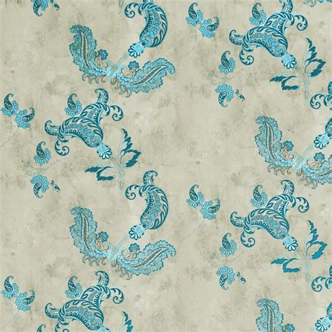 paisley turquoise wallpaper barneby gates wallpaper