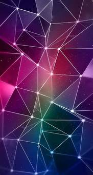 56ios7iphone 5 Wallpaper Hd Purple Triangles Lights