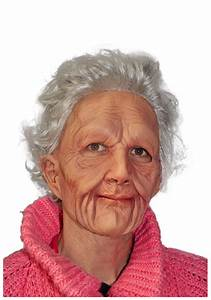 Eerie Old Woman Mask - Adult Scary Halloween Masks