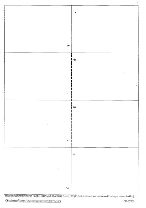 Onepage Minibook Templates  Practical Pages