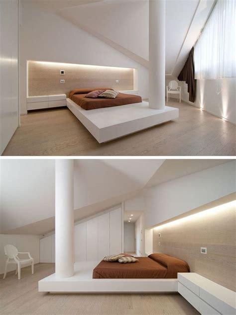 modele de chambre design lit futon et lit plateforme pour chambre adulte contemporaine