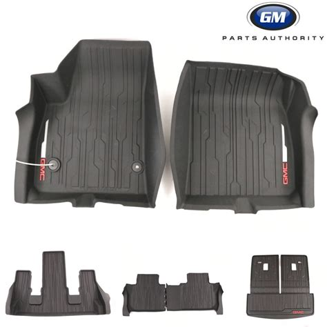 Aries Floor Mats Black by 17 18 Gmc Acadia Complete Floor Liner Pkg Front 2nd 3rd