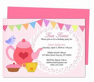 afternoon tea party invitation party templates printable With morning tea invitation template free