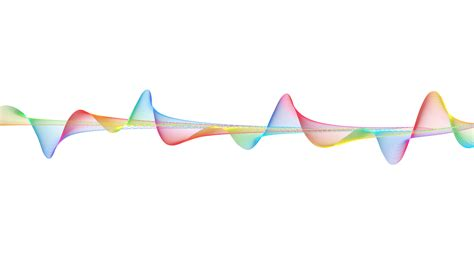 waves of color rainbow colors oscillations psdgraphics