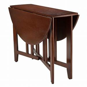 Amazon, Com, -, Winsome, Wood, Alamo, Double, Drop, Leaf, Round, Table, Mission, 42-inch