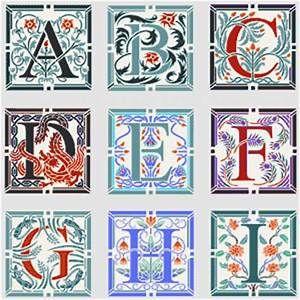 image gallery illuminated letters alphabet With illuminated alphabet templates