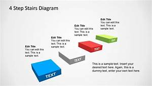4 Step Stairs Diagram Template For Powerpoint